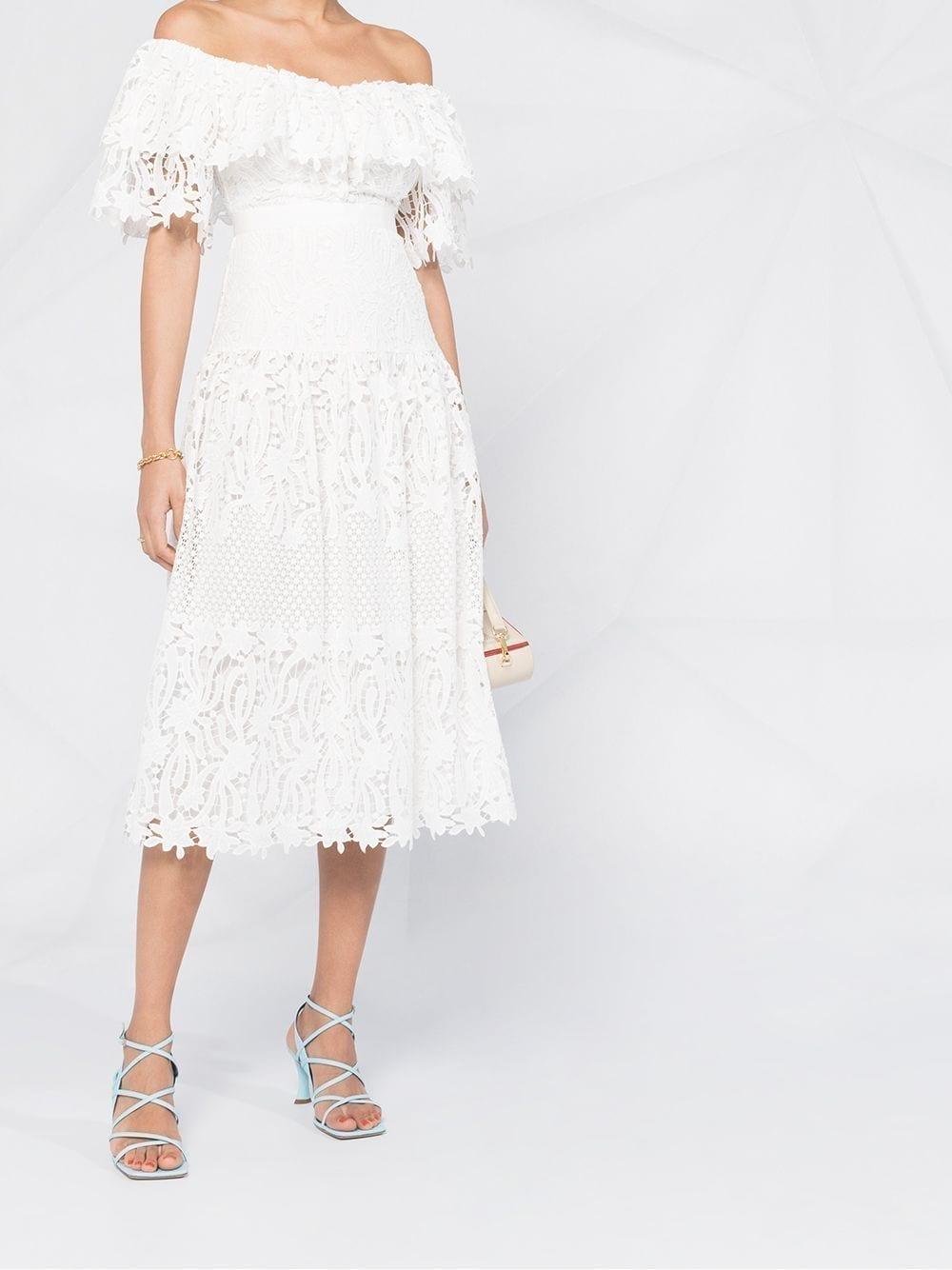 SELF-PORTRAIT Lace Tiered Dress