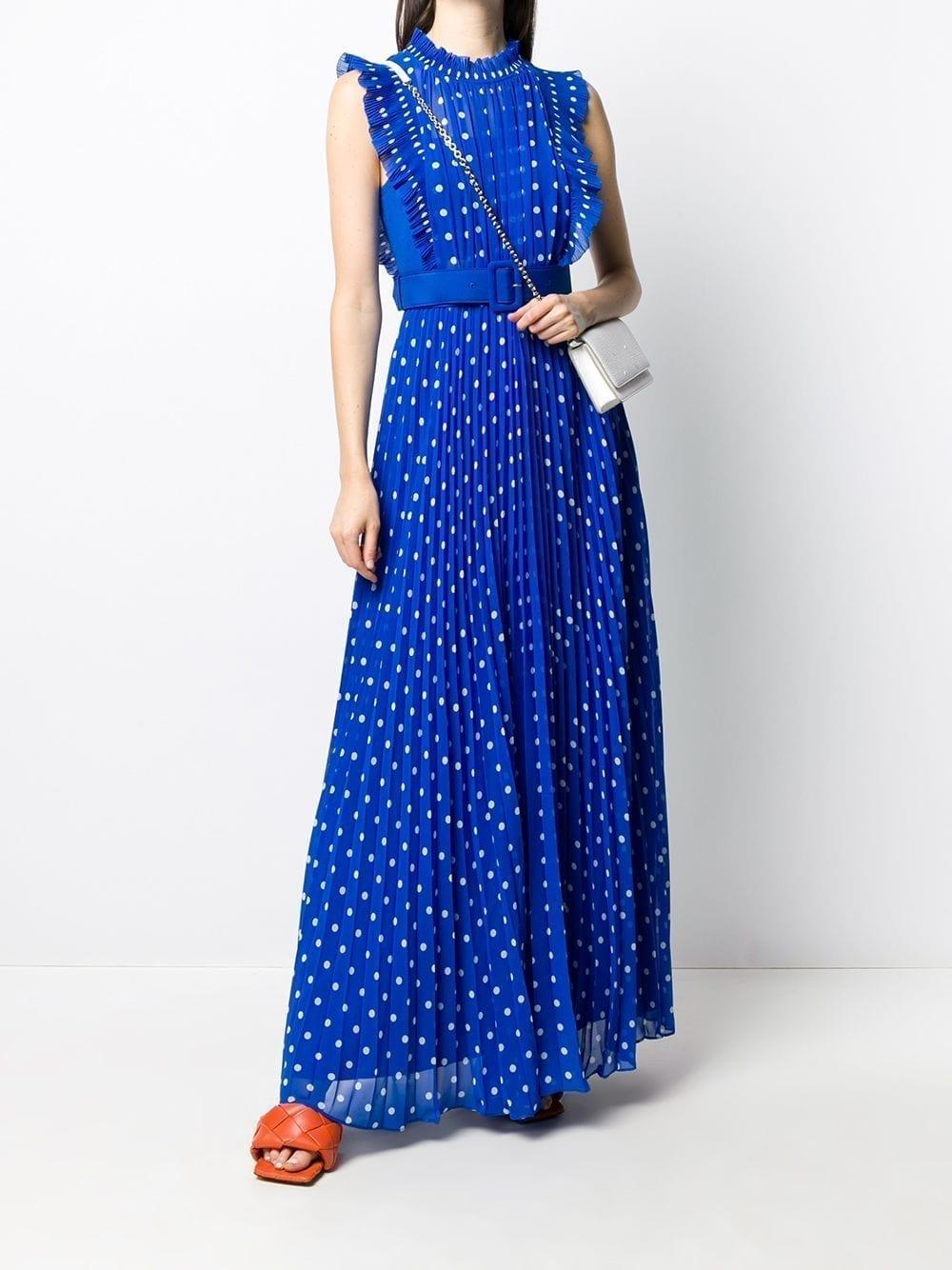 SELF-PORTRAIT Long Polka Dot Print Dress