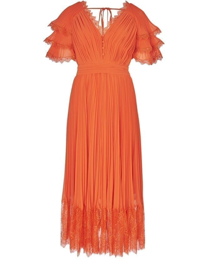 SELF PORTRAIT Midi Lace Dress