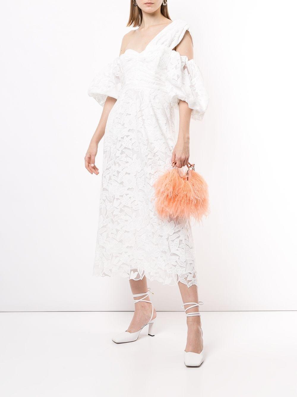 SELF-PORTRAIT One-shoulder Lace Dress