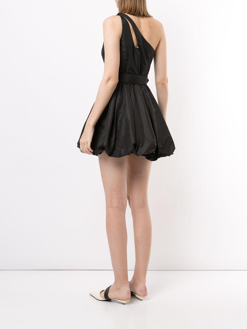 SELF-PORTRAIT One-shoulder Puffball Mini-Dress