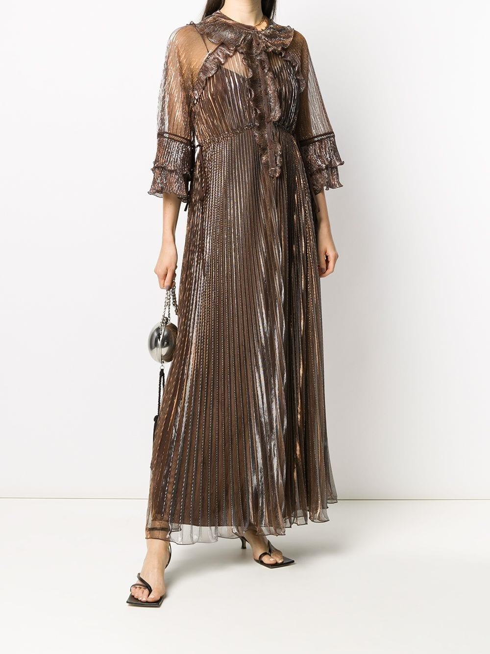 SELF-PORTRAIT Pleated Maxi Dress