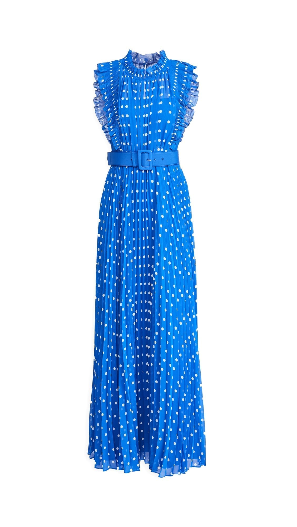 SELF PORTRAIT Polka Dot Chiffon Maxi Dress