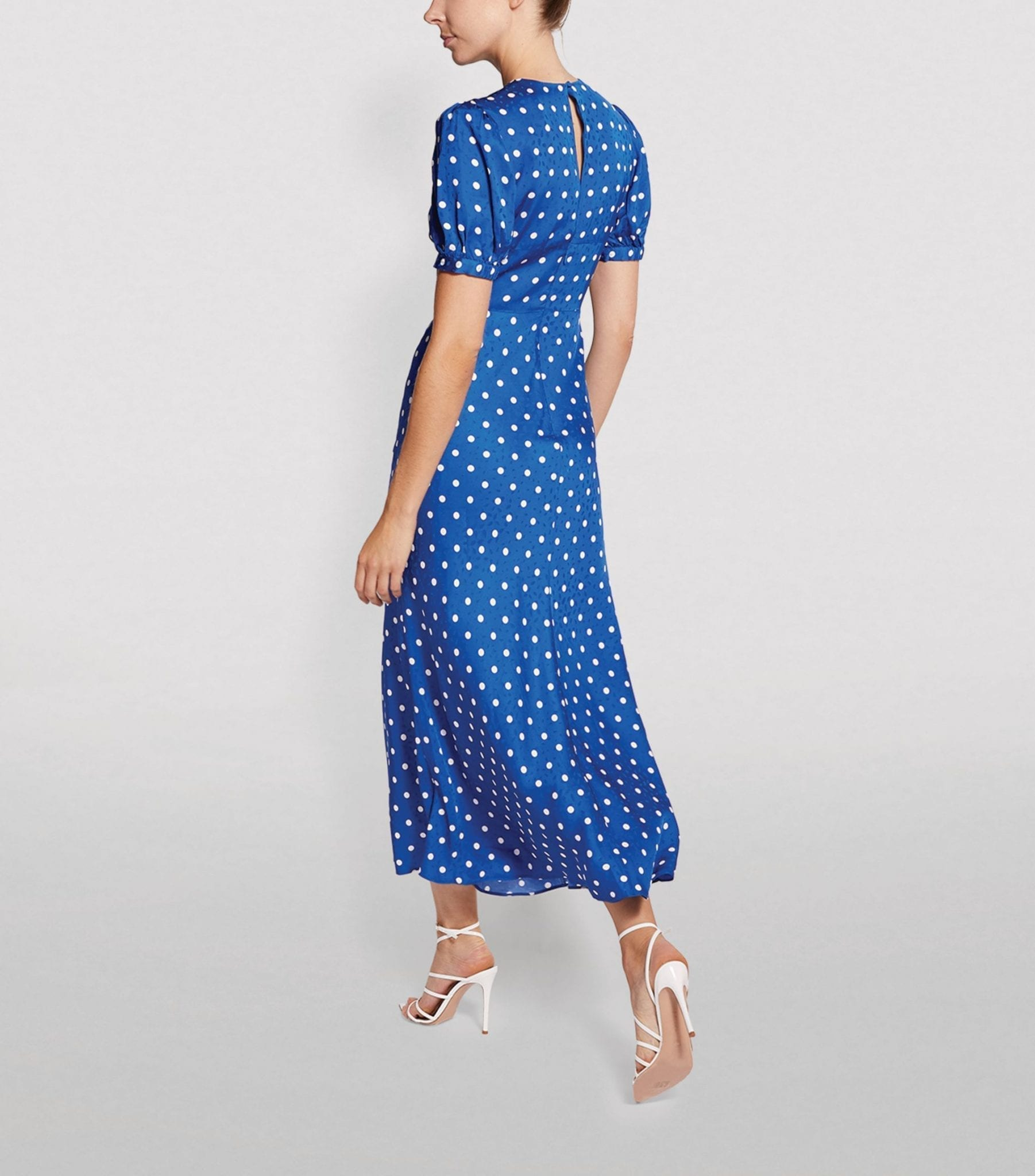 SELF-PORTRAIT Polka-Dot Midi Dress