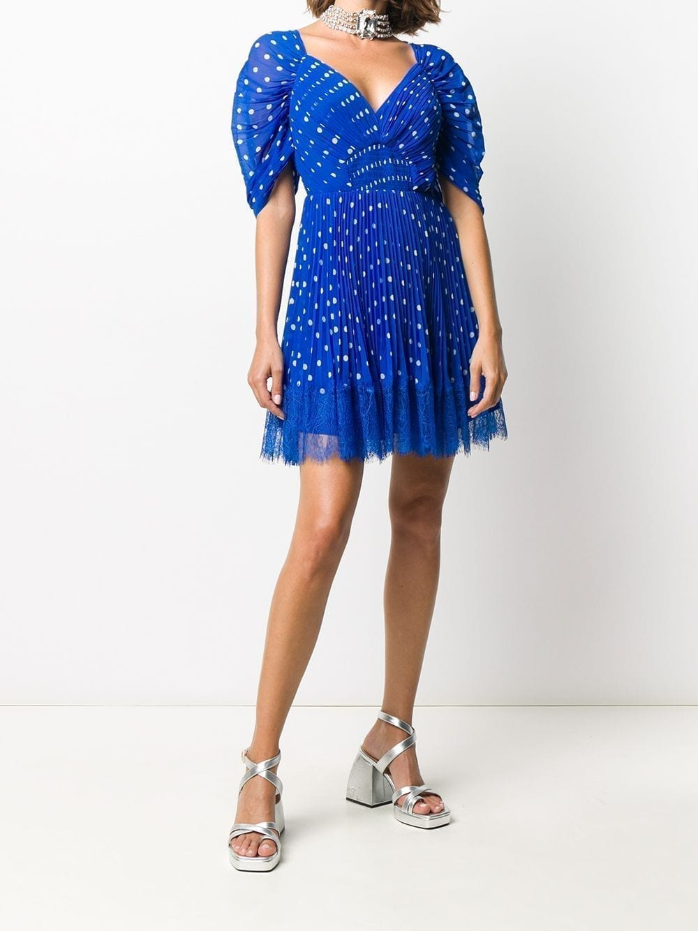 SELF-PORTRAIT Polka-dot Print Dress