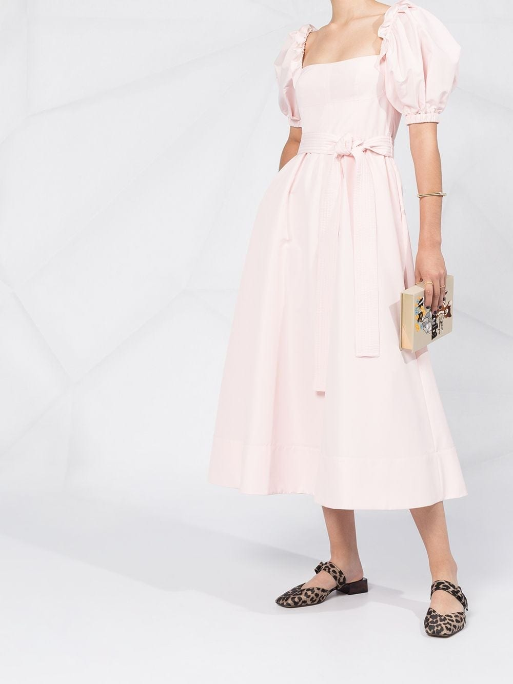 SELF-PORTRAIT Puff Sleeve Dress