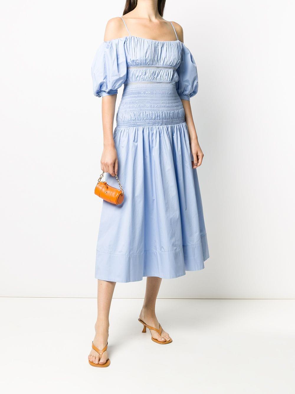 SELF-PORTRAIT Ruched Midi Dress