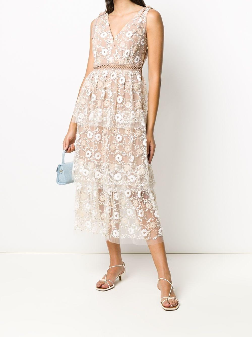 SELF-PORTRAIT Sequin-embellished A-line Dress