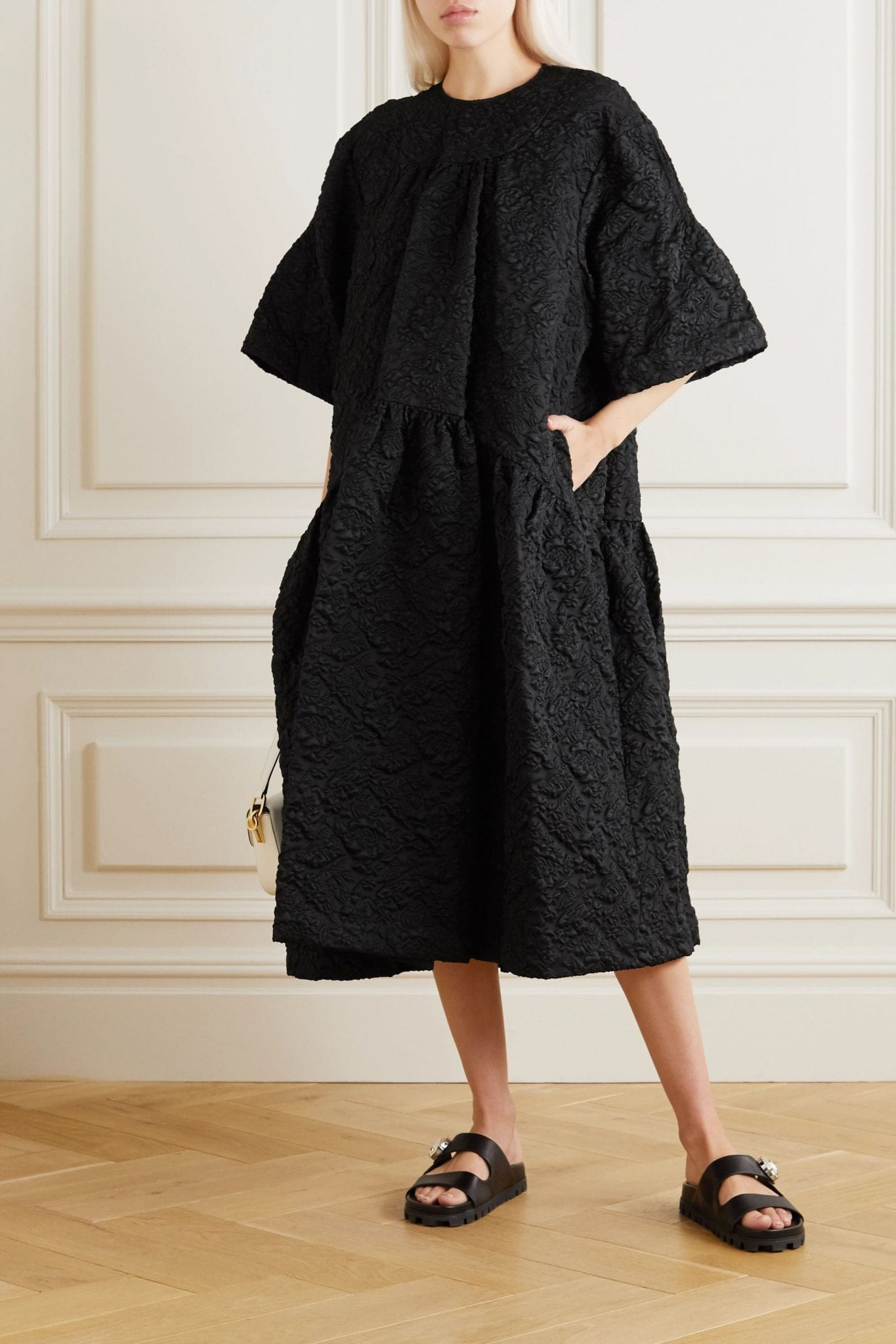 SIMONE ROCHA Oversized Tiered Cloqué Midi Dress