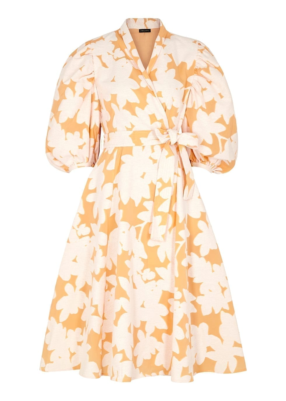 STINE GOYA Belinda Cotton-blend Jacquard Wrap Dress
