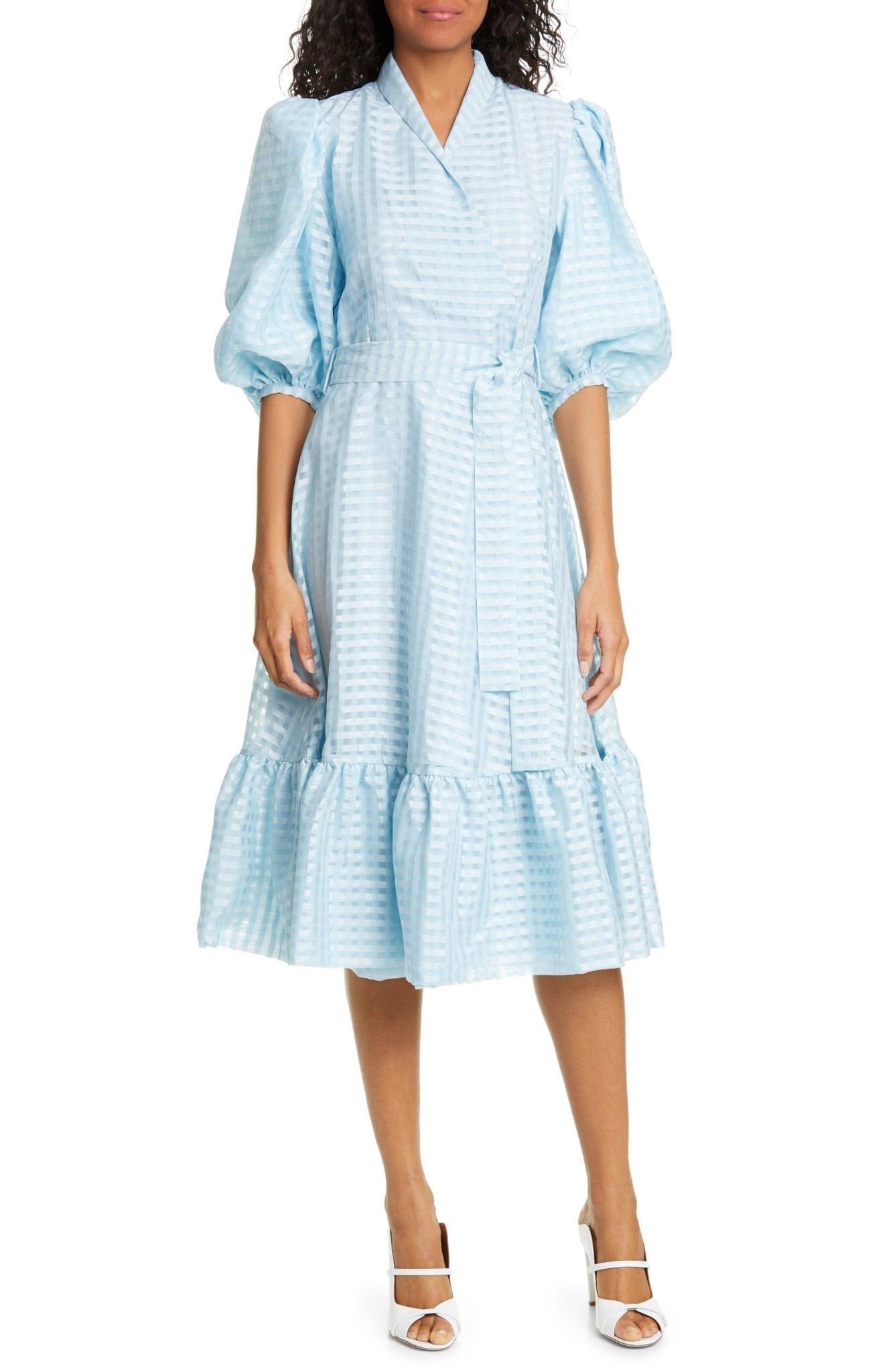 STINE GOYA Chinie Midi Wrap Dress