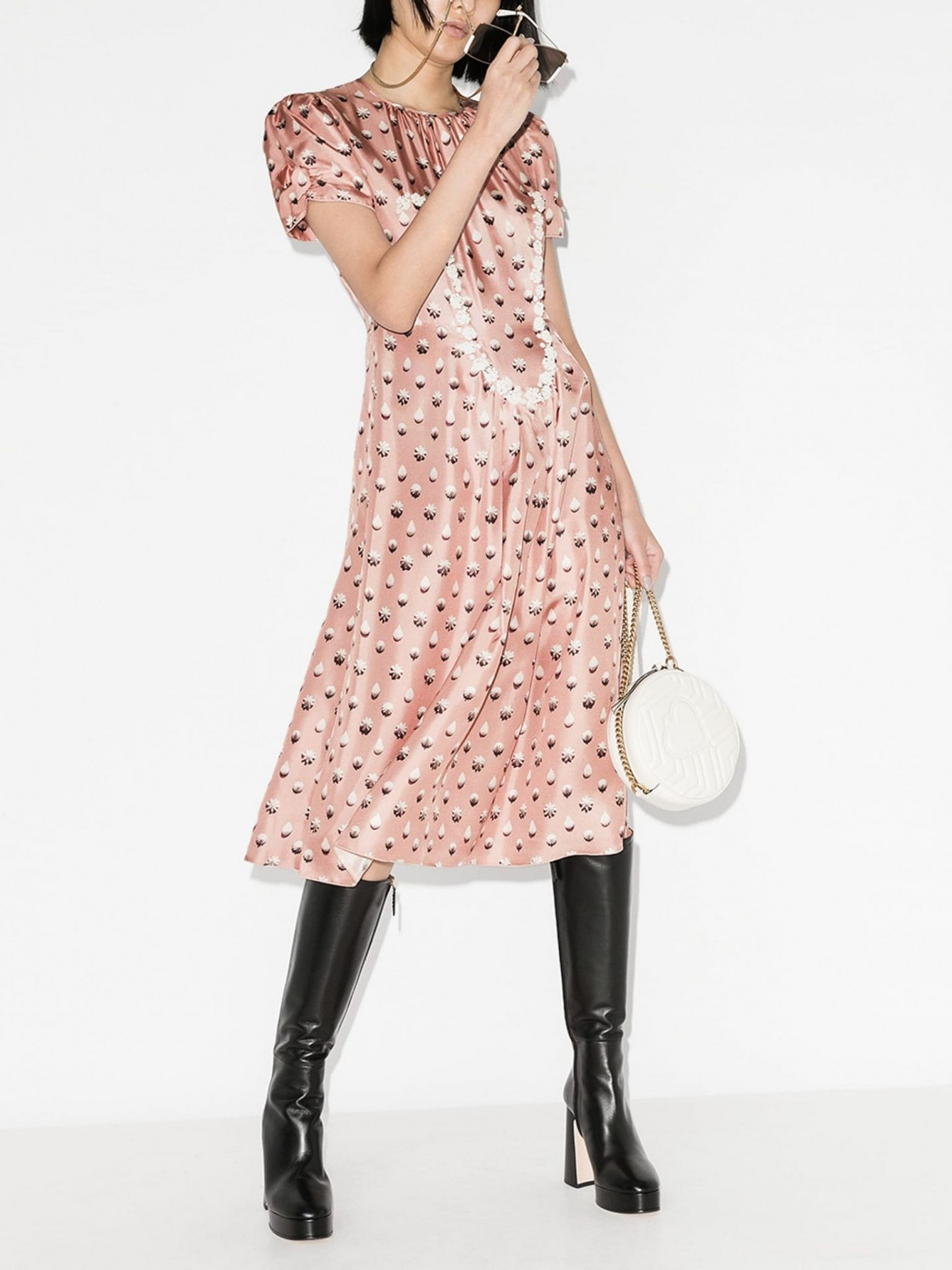 THE MARC JACOBS The '40s Icing Print Silk Dress