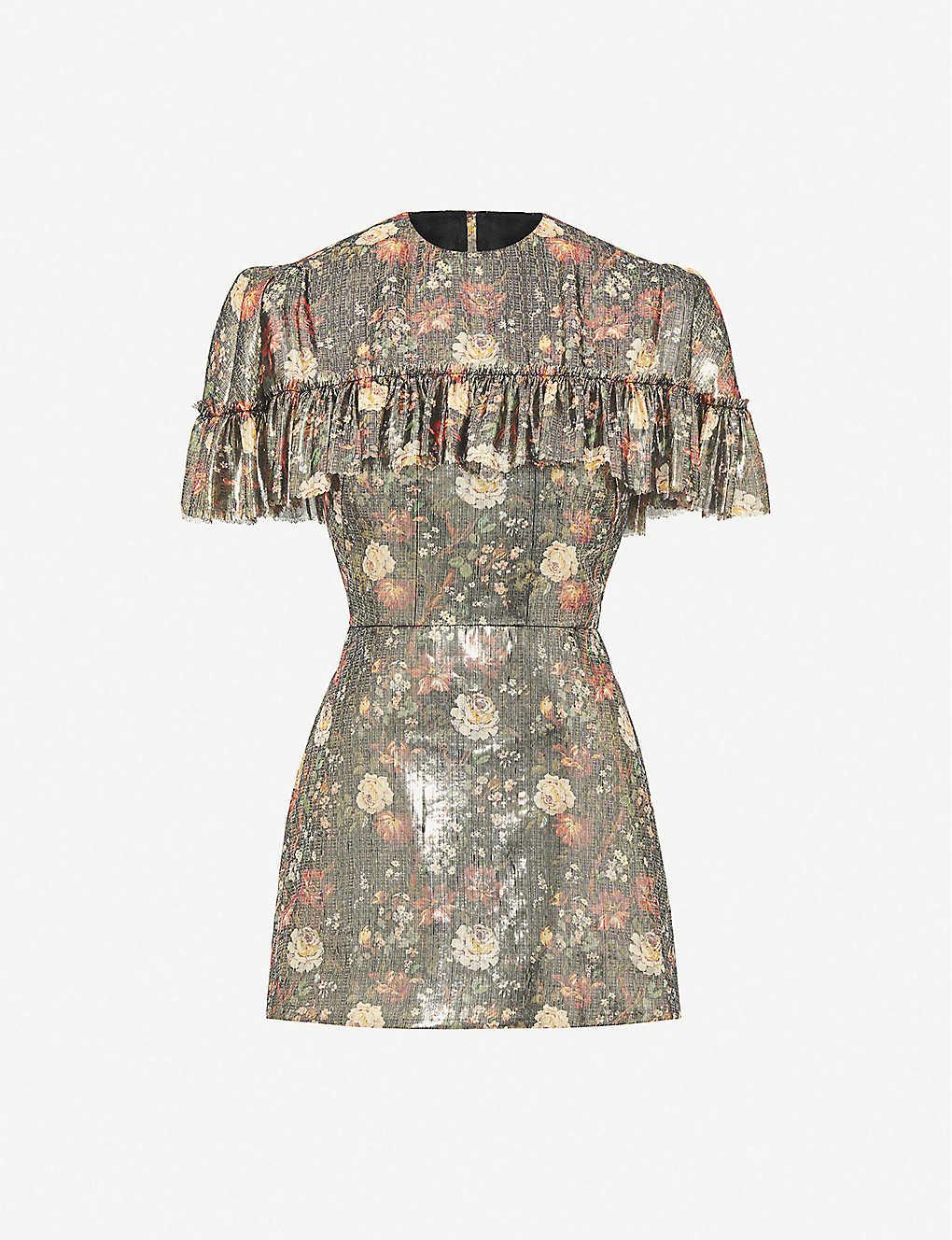 THE VAMPIRE'S WIFE Nearly Nuthin' Metallic Silk-blend Mini Dress