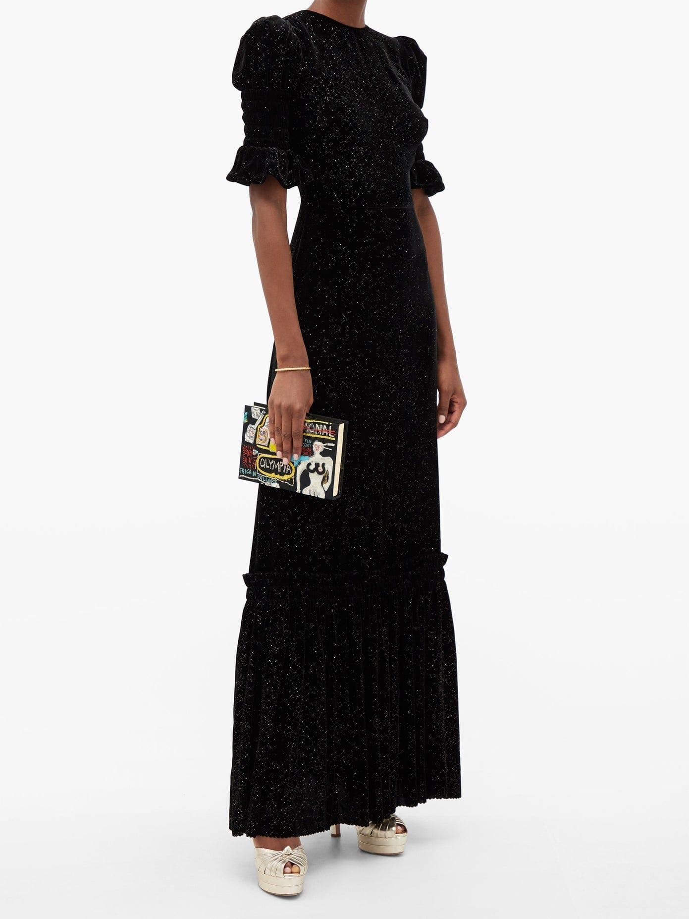 THE VAMPIRE'S WIFE Night Flight Glitter-velvet Maxi Dress