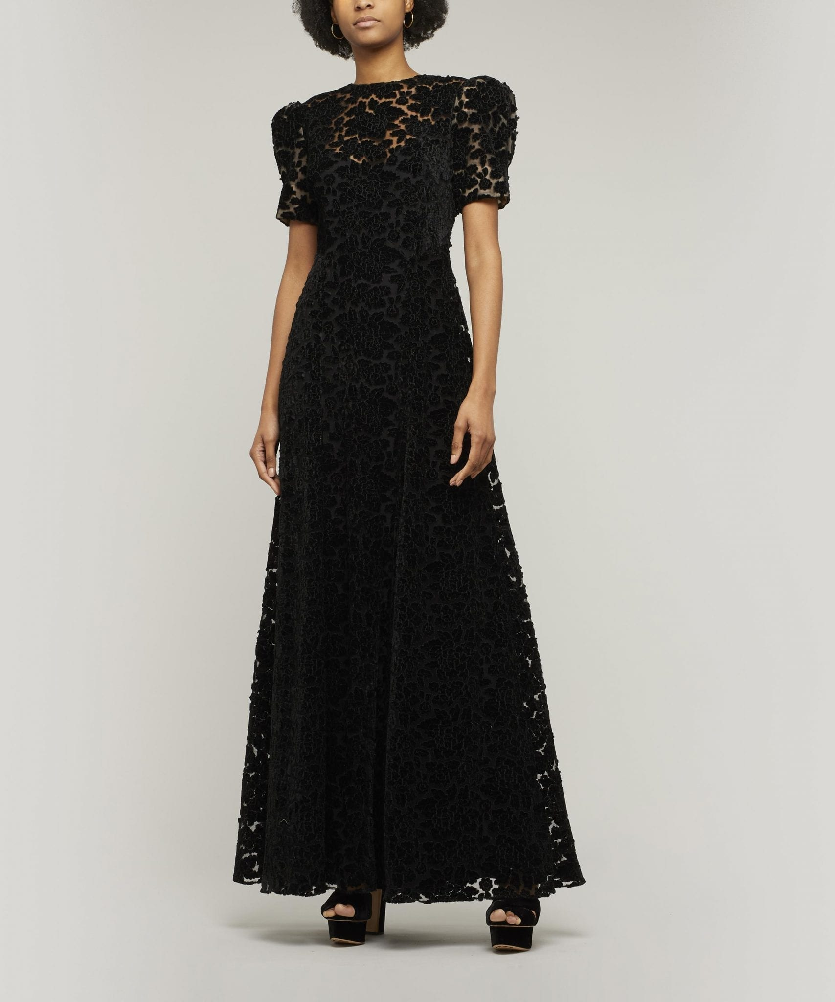 THE VAMPIRE'S WIFE Night Sparrow Flocked Dress