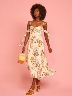 THEREFORMATION Mimosa Dress