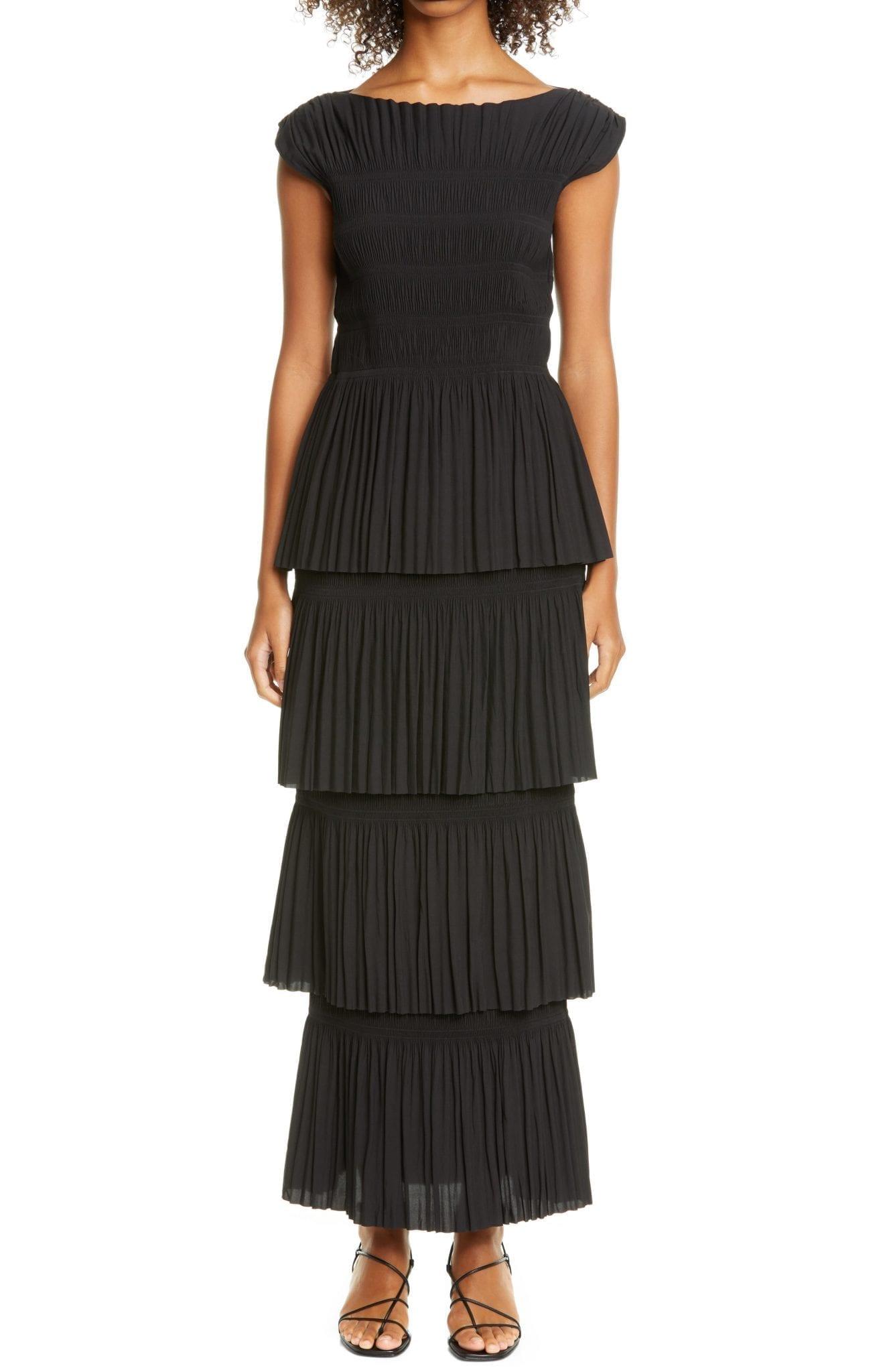 TOTÊME Aramon Pleated Tiered Maxi Dress