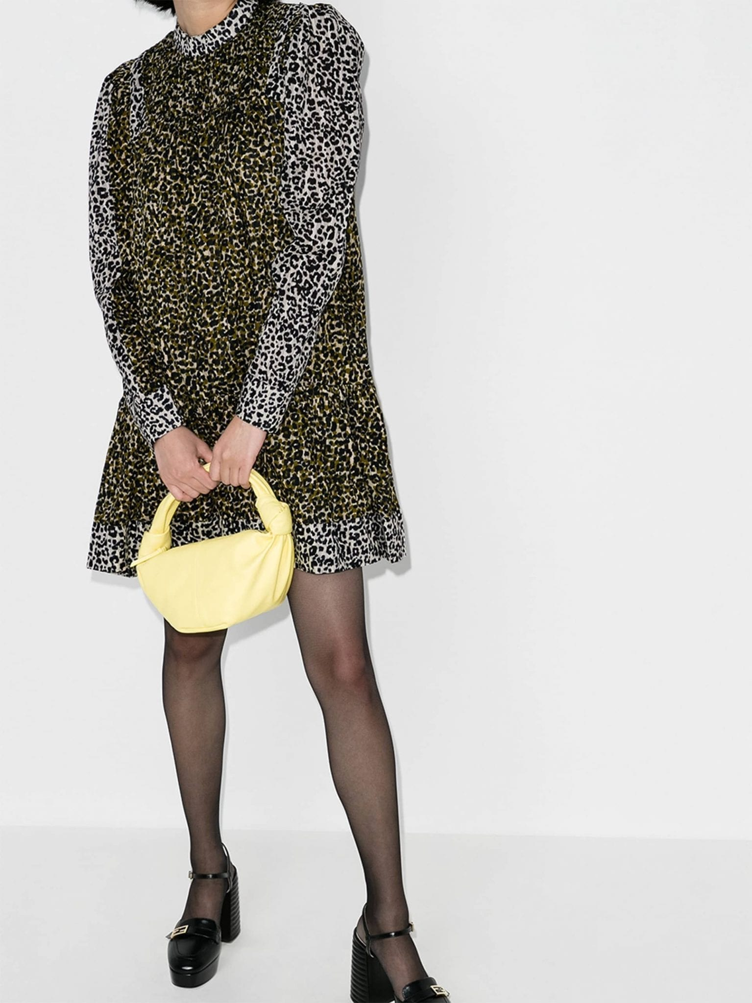 ULLA JOHNSON Amira Leopard Print Dress