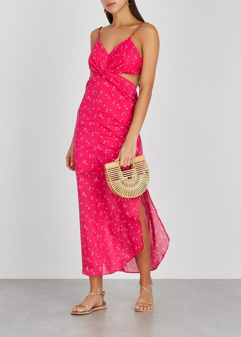 V I X PAULA HERMANNY Briditte Polka-dot Cotton Maxi Dress