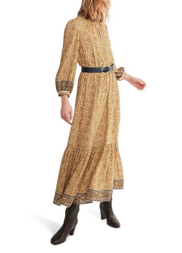 VANESSA BRUNO Viscose Long Noisette Dress
