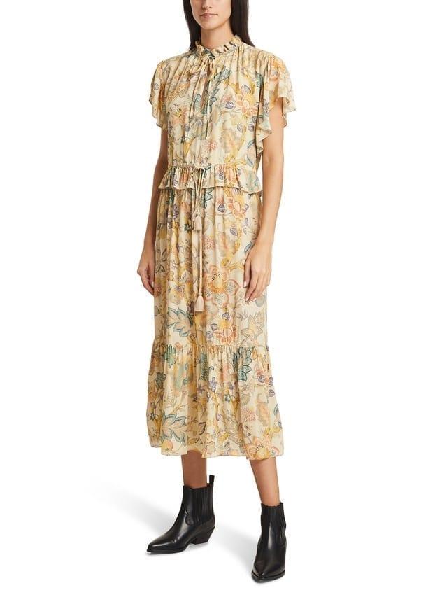 VANESSA BRUNO Viscose Printed Long Nausica Dress