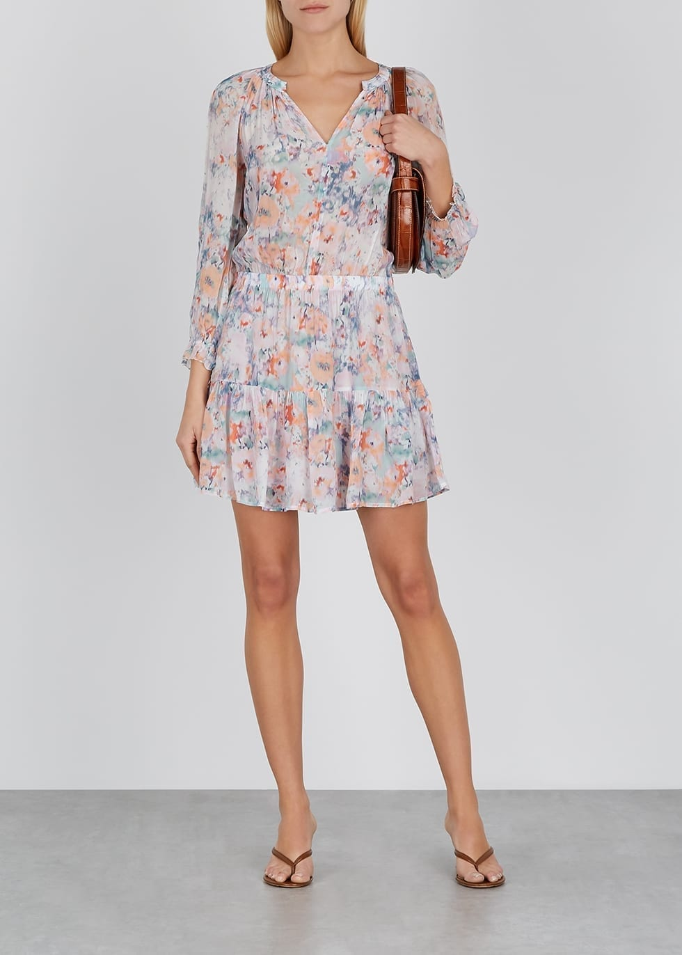 VELVET BY GRAHAM & SPENCER Leah Printed Chiffon Dress