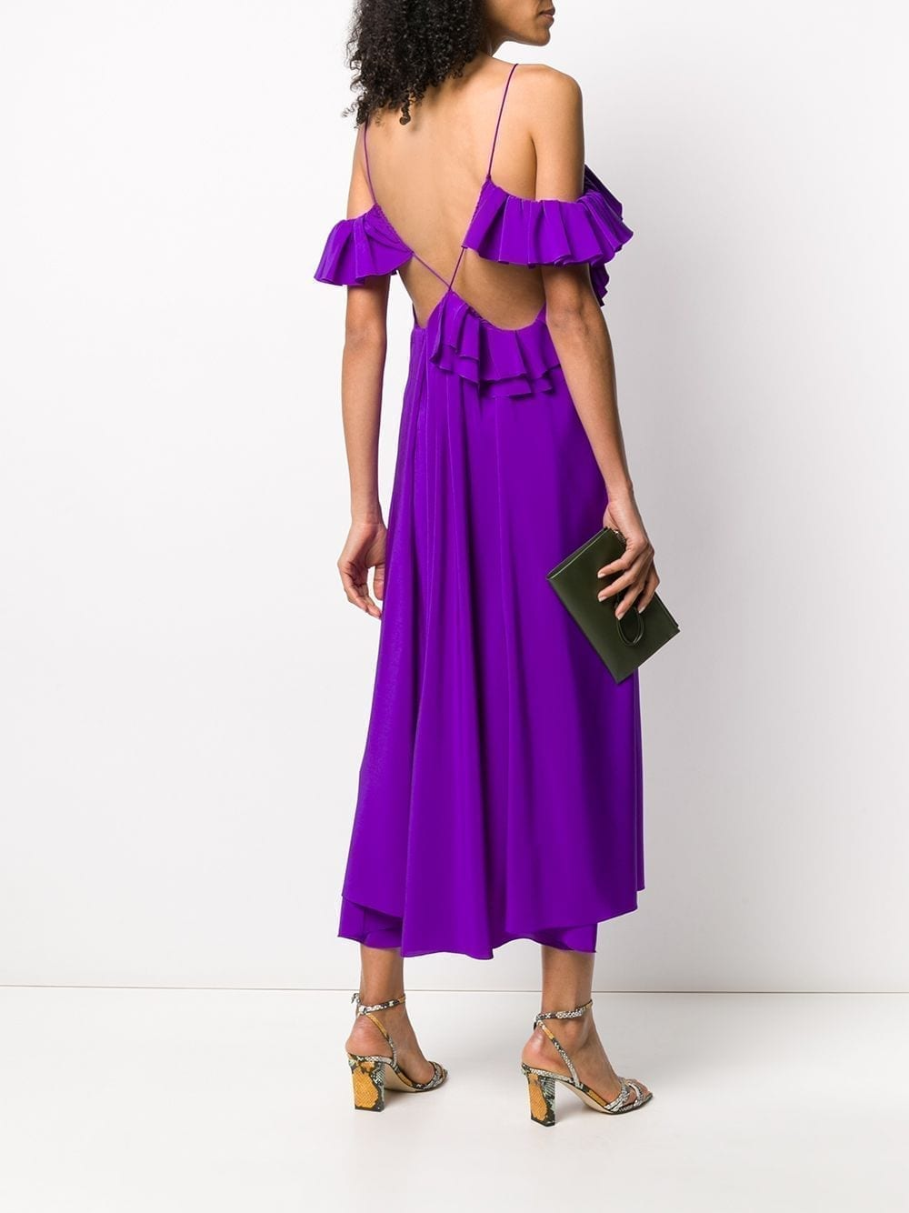 VICTORIA BECKHAM Ruffle-trim Shift Dress