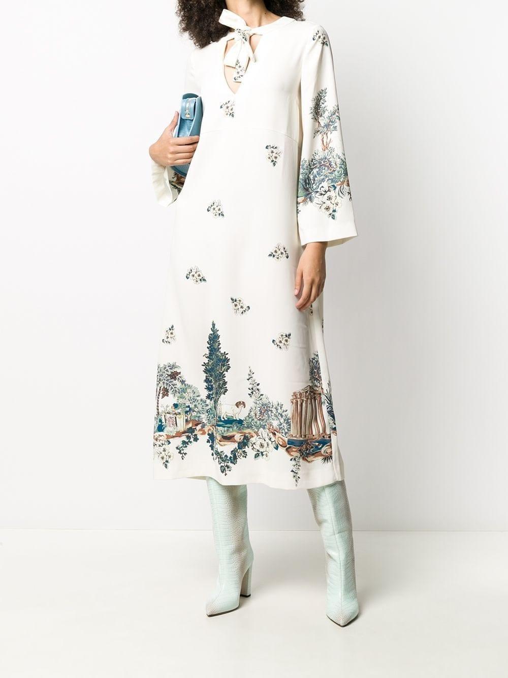 VIVETTA Landscape-print Midi Dress
