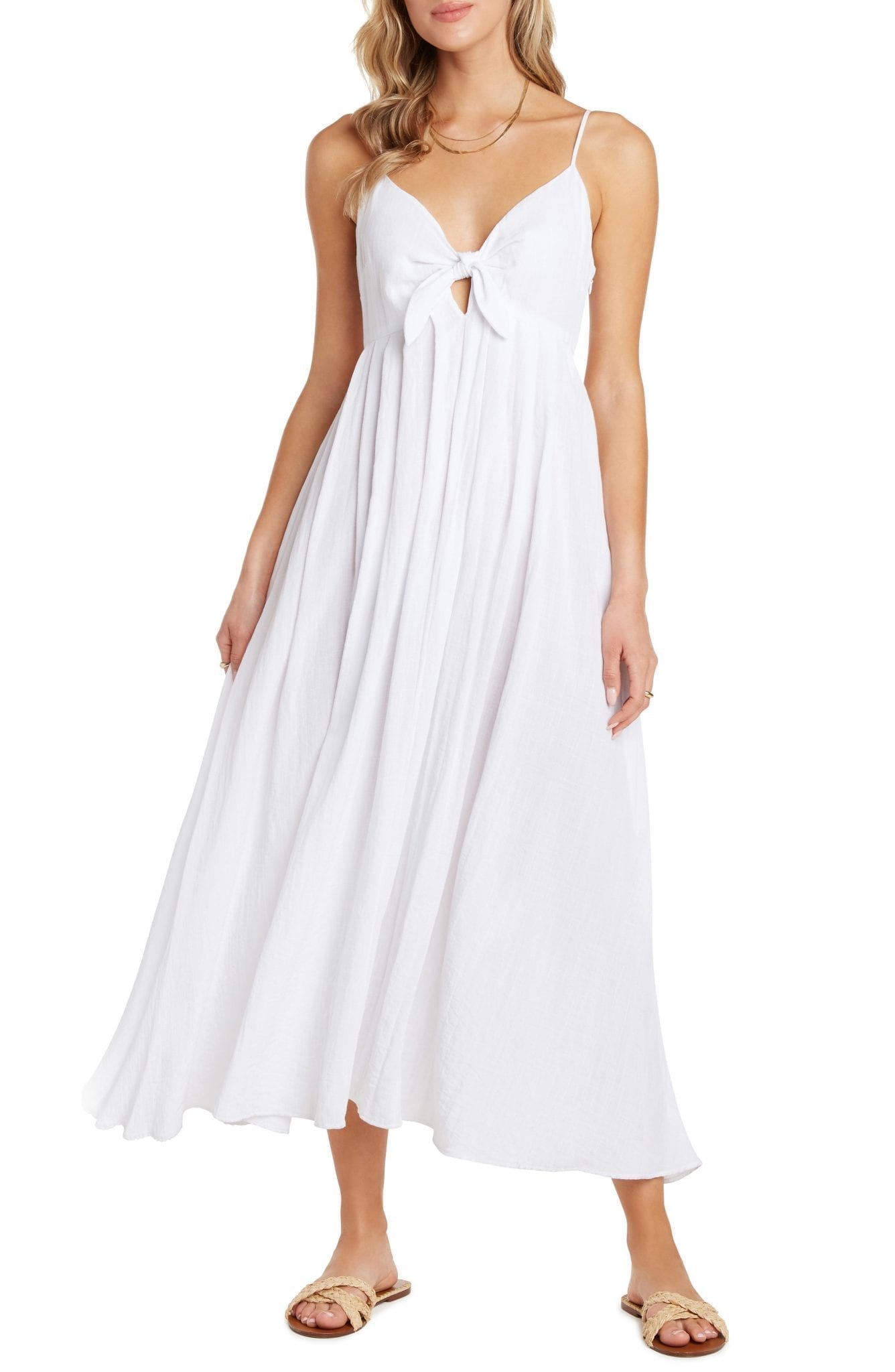 WILLOW Rochelle Tie Front Midi Sun Dress