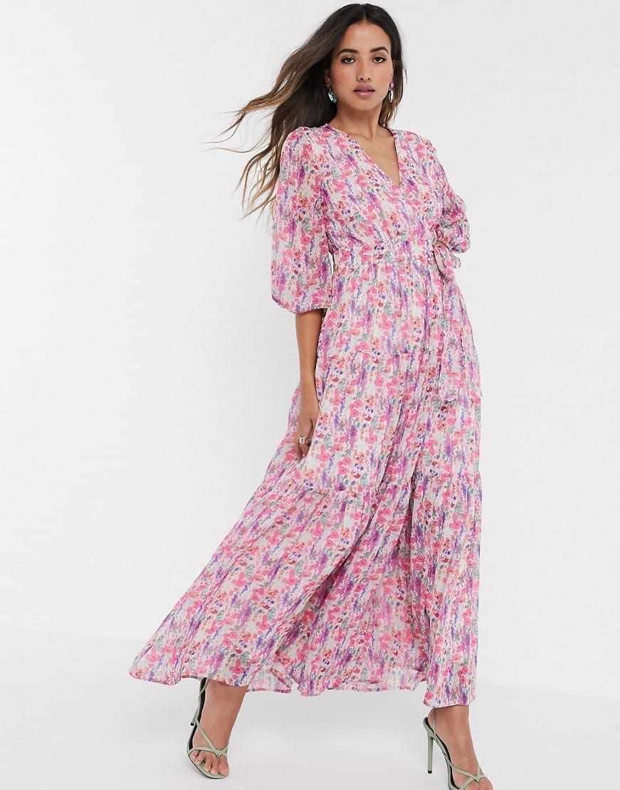 Y.A.S Open Back Wrap Maxi Dress