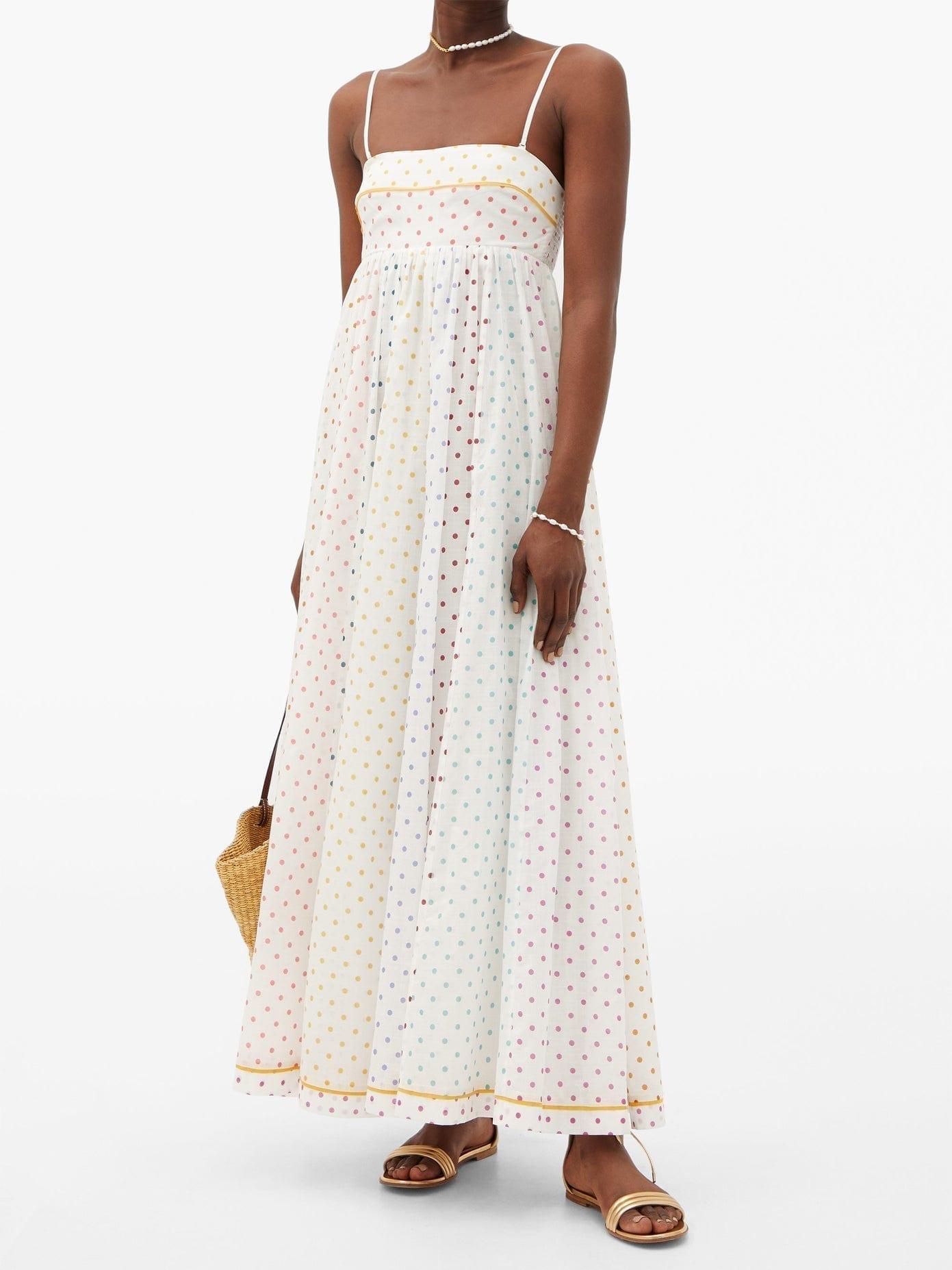 ZIMMERMANN Bellitude Polka-dot Cotton-gauze Dress