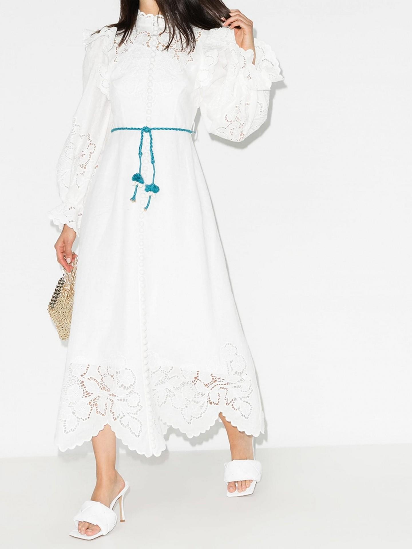 ZIMMERMANN Carnaby Laser-Cut Maxi Dress