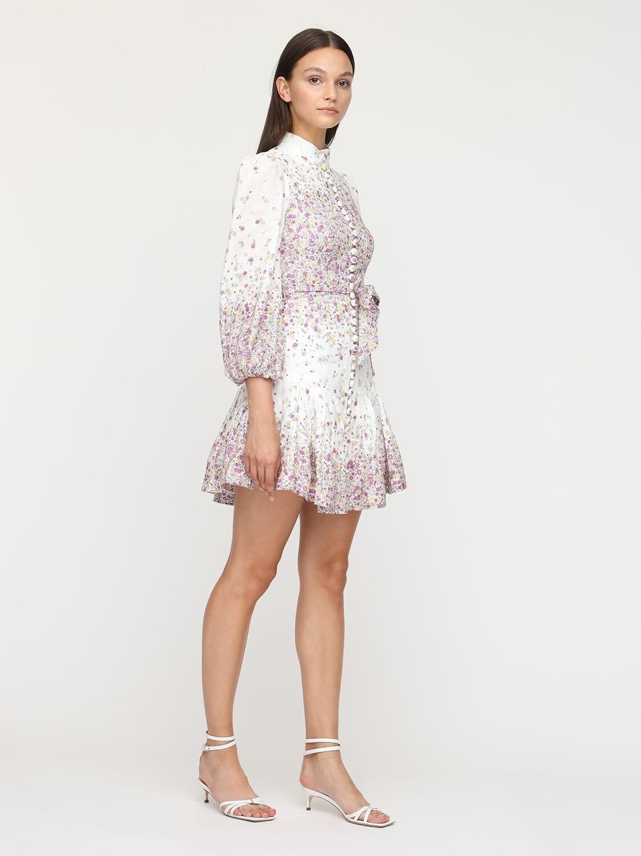 ZIMMERMANN Carnaby Printed Linen Mini Dress