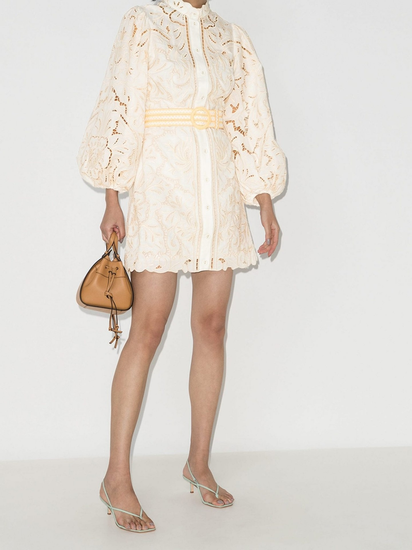 ZIMMERMANN Empire Broderie Anglaise Mini Dress