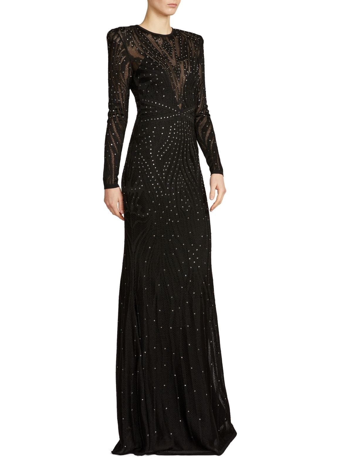 ZUHAIR MURAD Studded Sheer Gown