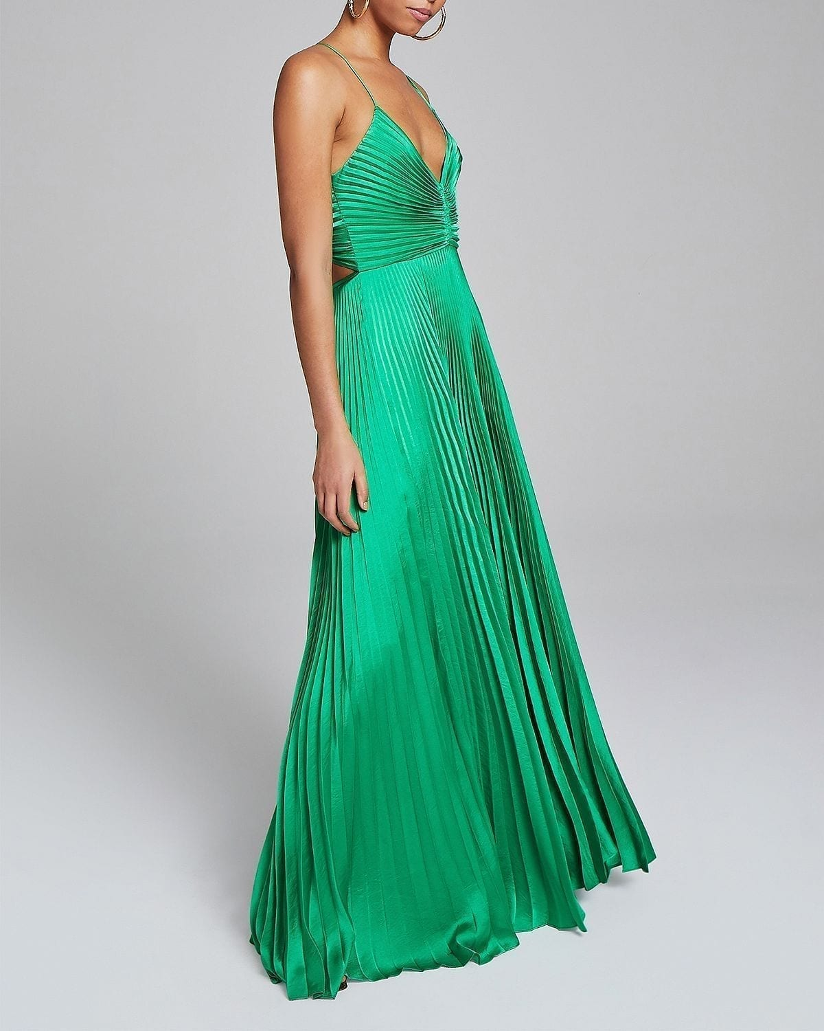 A.L.C. Aries Pleated Open Back Dress