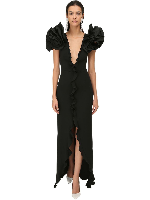 ALESSANDRA RICH Cady Ruffled Long Dress