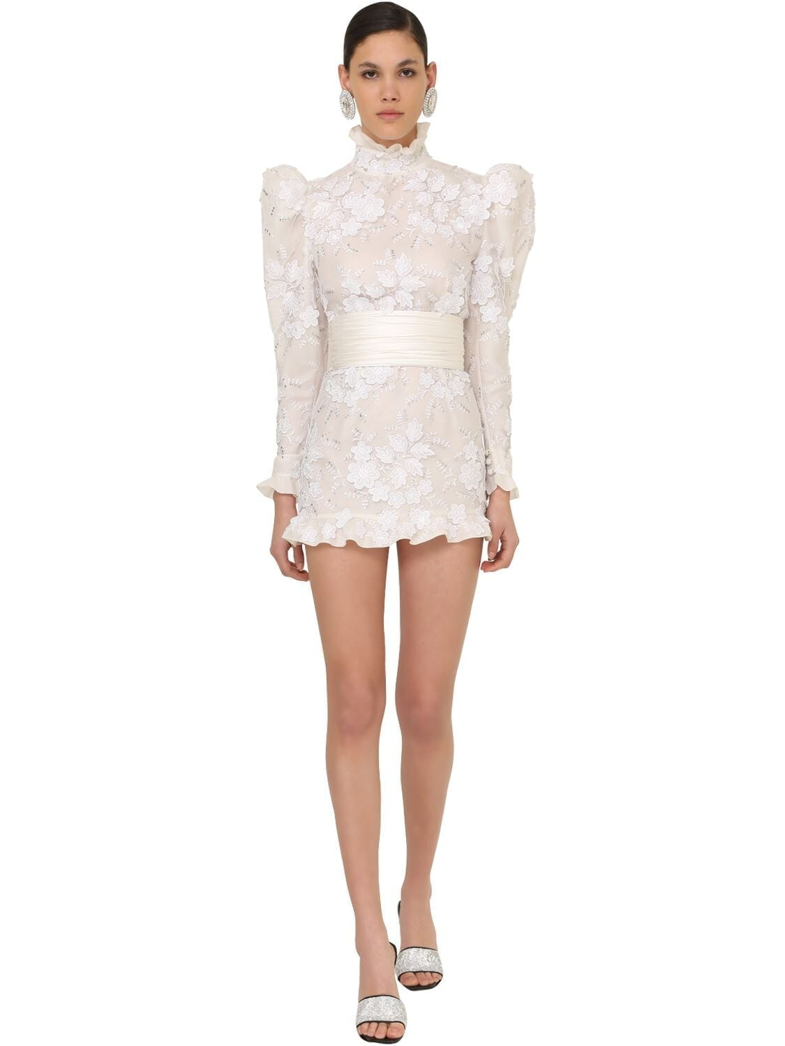 ALESSANDRA RICH Embellished Tulle Mini Dress