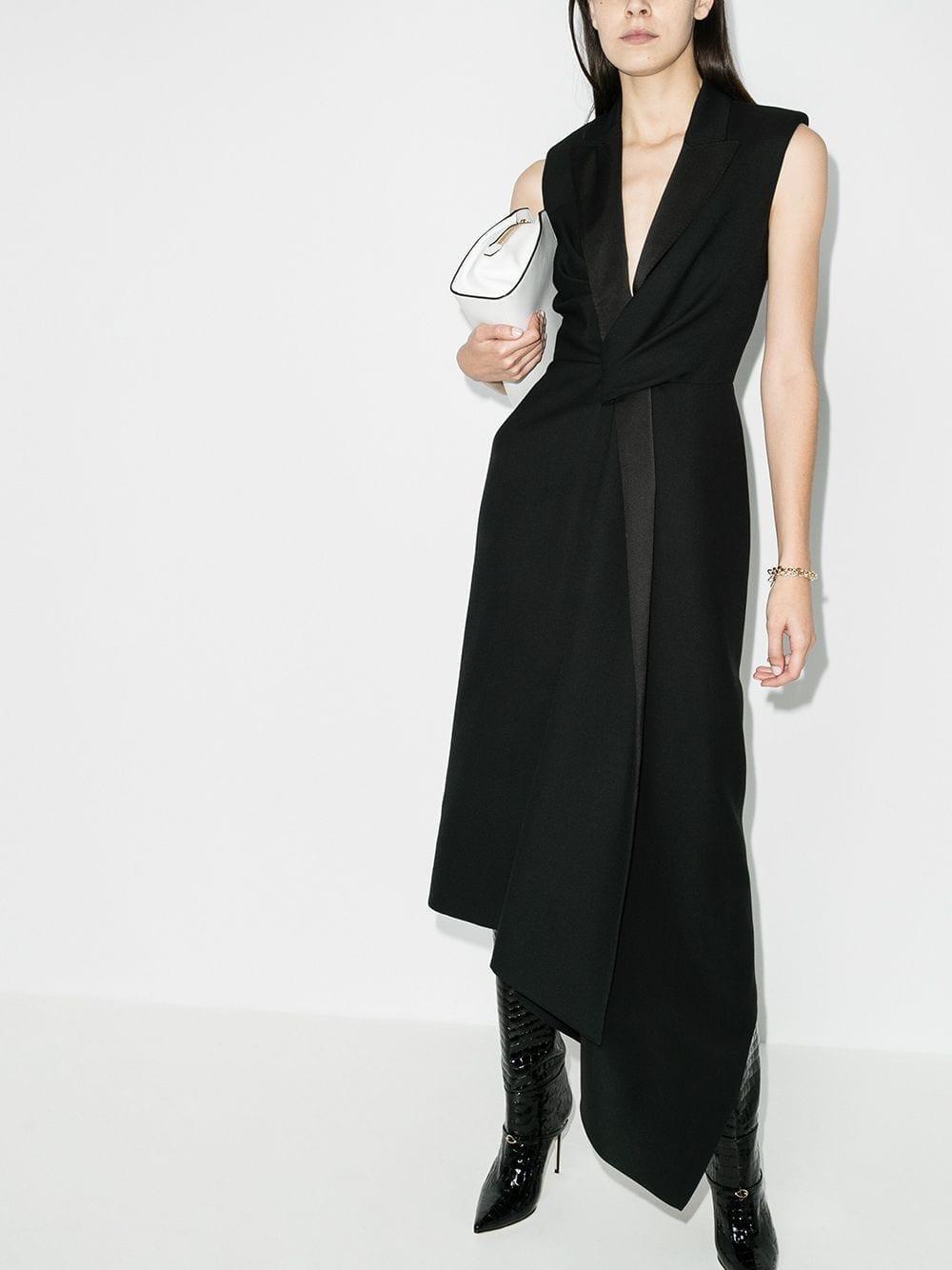 ALEXANDER MCQUEEN Tailored Asymmetric Gown