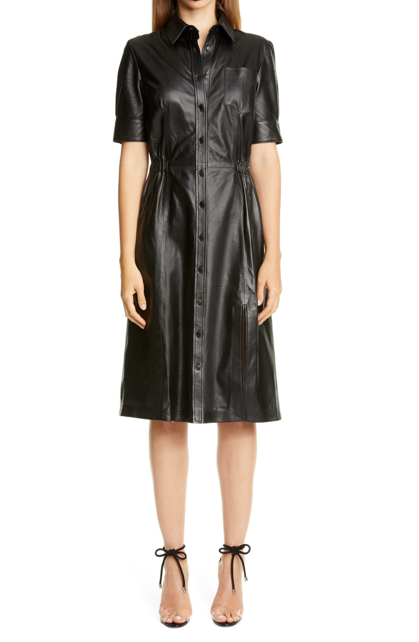 ALTUZARRA Leather Shirt Dress