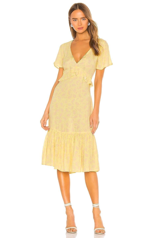 AMUSE SOCIETY Scarlett Short Sleeve Midi Dress