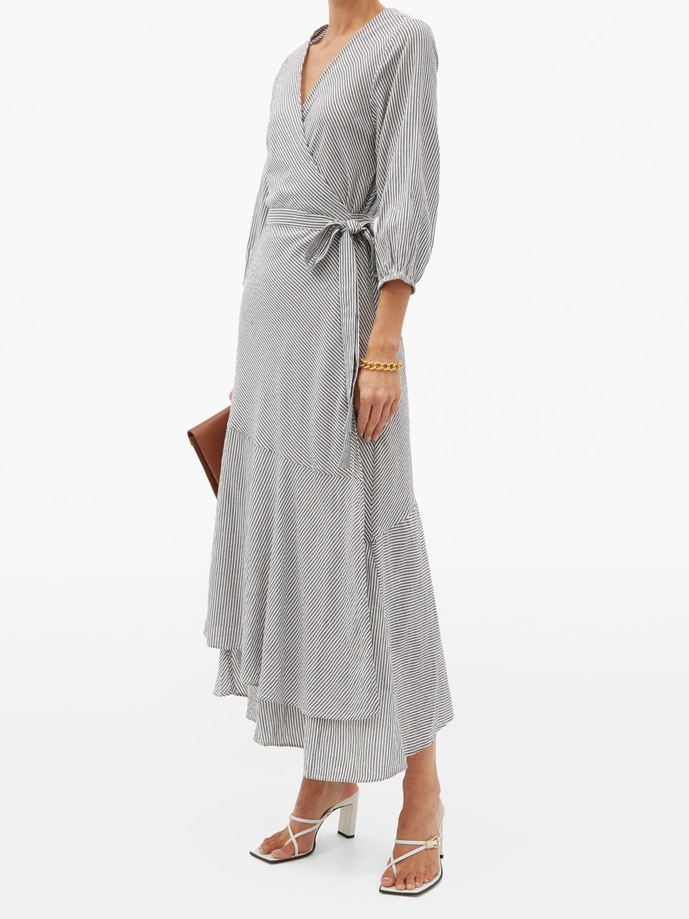 APIECE APART Sierra Asymmetrical Organic-cotton Wrap Dress