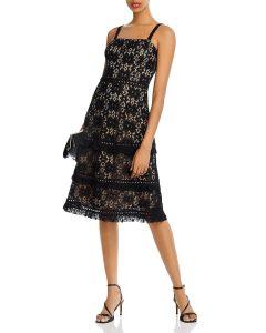 AQUA Lace Midi Dress