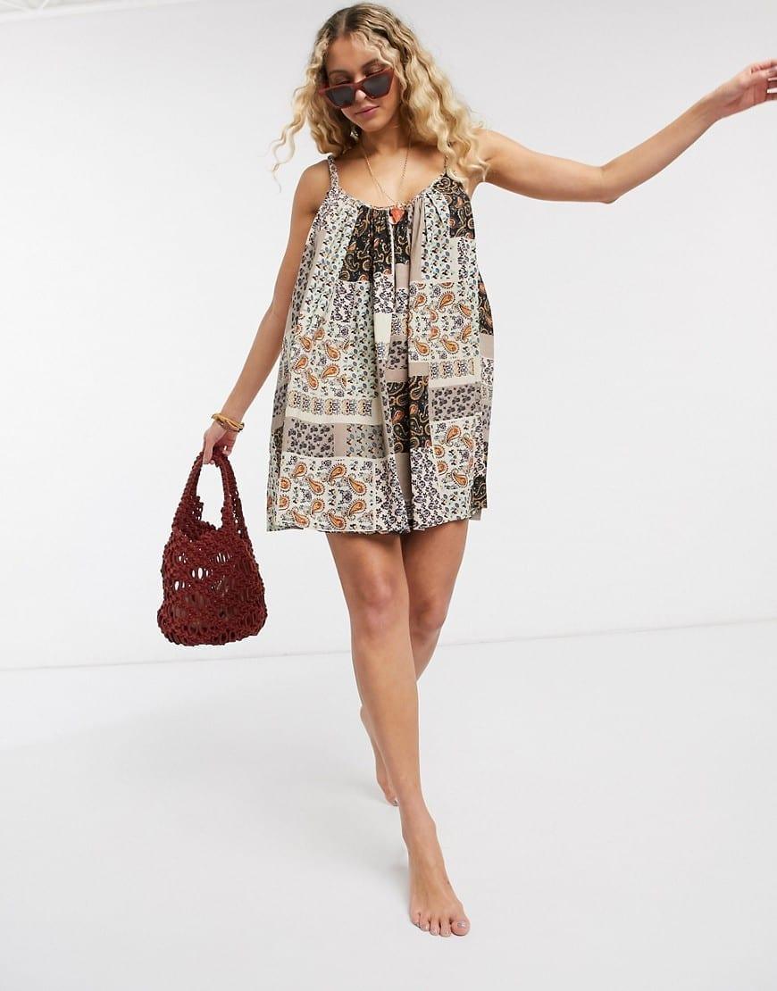 ASOS DESIGN Braid Strap Easy Beach Sun Dress