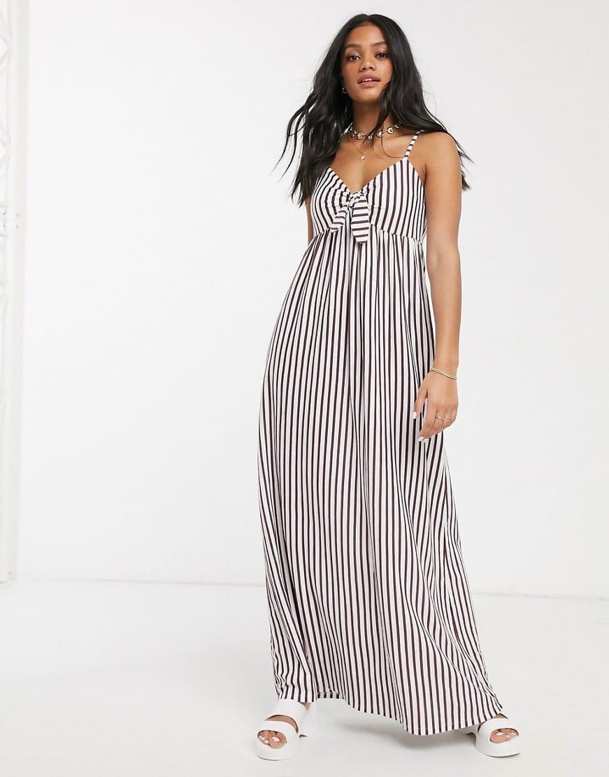 ASOS DESIGN Cami Bow Front Maxi Sun Dress