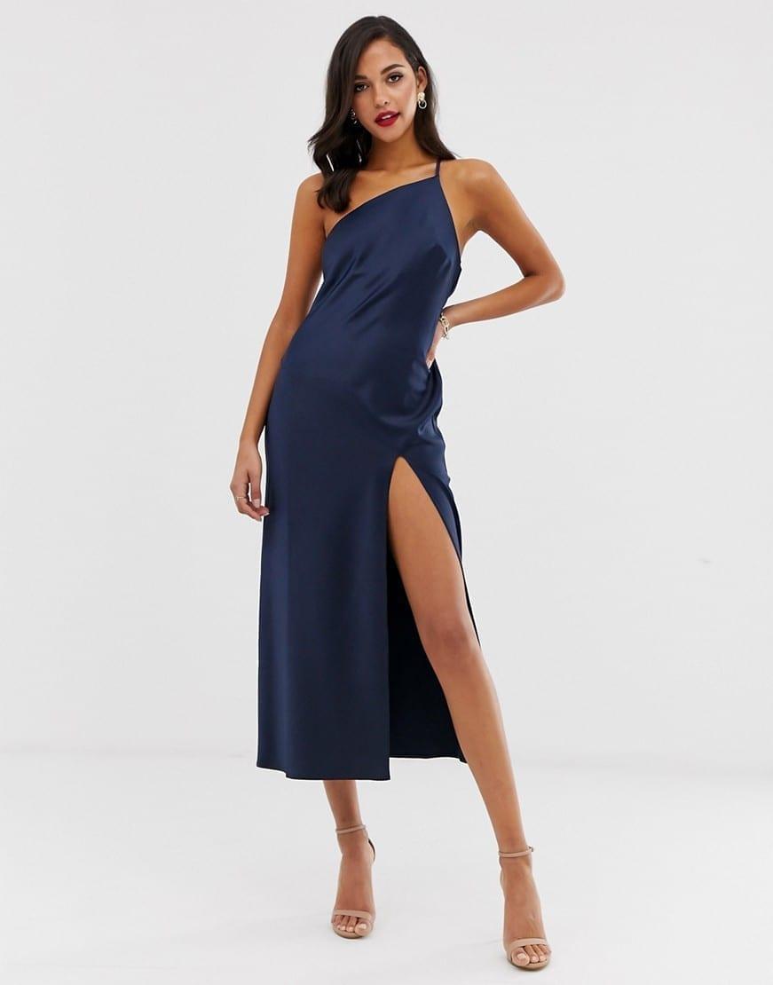 ASOS DESIGN One Shoulder Midaxi Dress