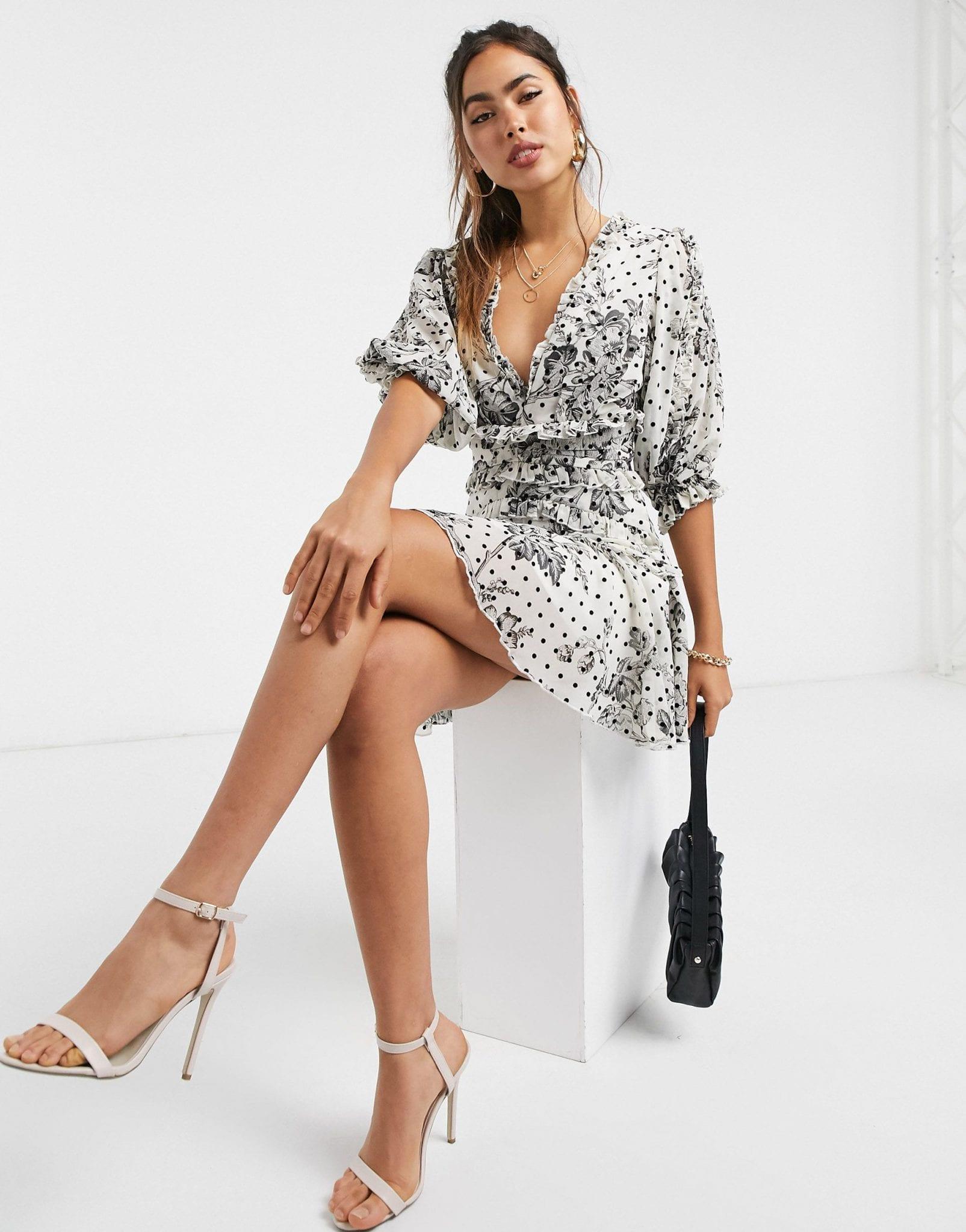 ASOS DESIGN Ruffle Mini Dress