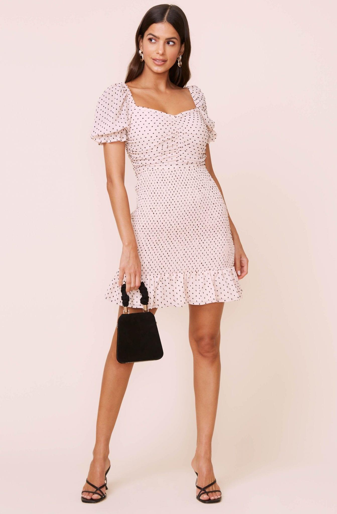 ASTR Smocked Mini Dress