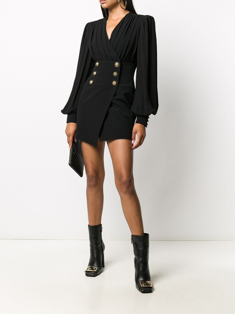 BALMAIN Decorative Button Short Dress