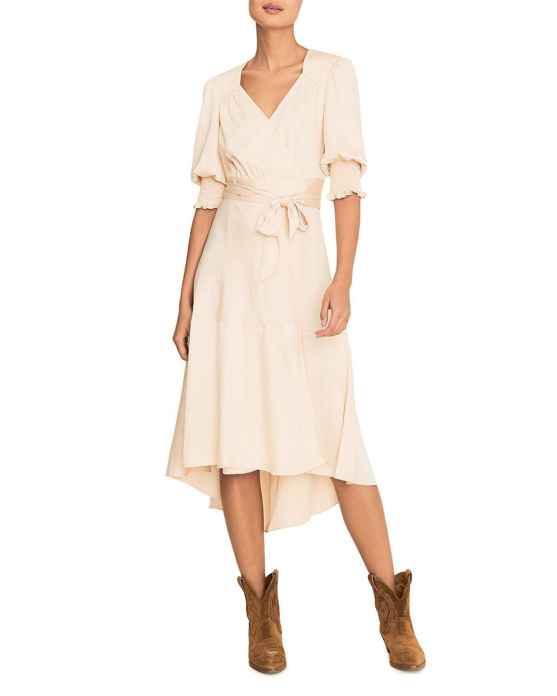 BA&SH Game Midi Wrap Dress